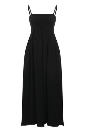 Женское льняное платье JIL SANDER черного цвета, арт. JSPS501804-WS320400 | Фото 1