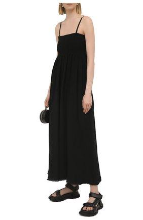 Женское льняное платье JIL SANDER черного цвета, арт. JSPS501804-WS320400 | Фото 2