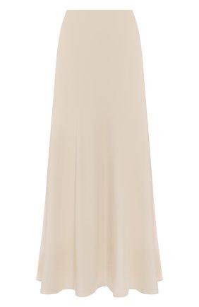 Женская шелковая юбка THE ROW кремвого цвета, арт. 5658W1099 | Фото 1