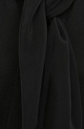 Женский топ из кашемира и шелка THE ROW черного цвета, арт. 5668F457   Фото 5 (Кросс-КТ: без рукавов; Материал внешний: Шерсть, Шелк, Кашемир; Длина (для топов): Стандартные; Рукава: Без рукавов; Стили: Кэжуэл)
