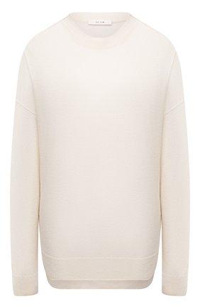 Женский кашемировый пуловер THE ROW кремвого цвета, арт. 5681F377 | Фото 1 (Женское Кросс-КТ: Пуловер-одежда; Материал внешний: Шерсть, Кашемир; Рукава: Длинные; Стили: Кэжуэл; Длина (для топов): Удлиненные)