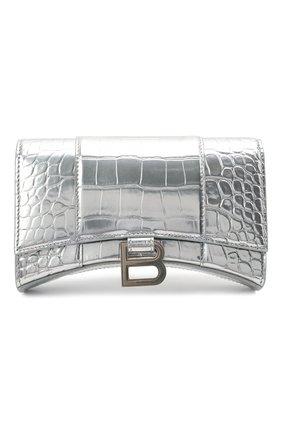 Женская сумка hourglass BALENCIAGA серебряного цвета, арт. 656050/1S4CY | Фото 1