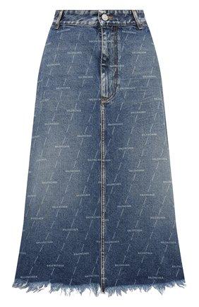 Женская джинсовая юбка BALENCIAGA синего цвета, арт. 641517/TJW53 | Фото 1