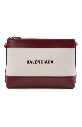 Женская сумка navy BALENCIAGA коричневого цвета, арт. 639497/2HH2N   Фото 1
