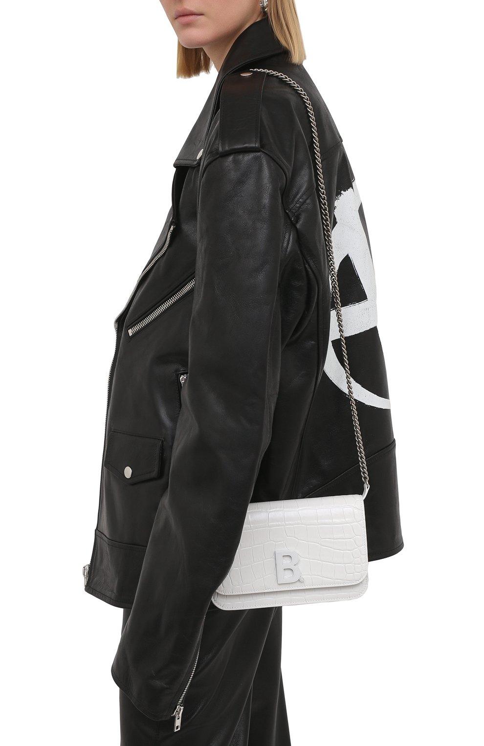 Женская сумка b. BALENCIAGA белого цвета, арт. 593615/1U6EK   Фото 2