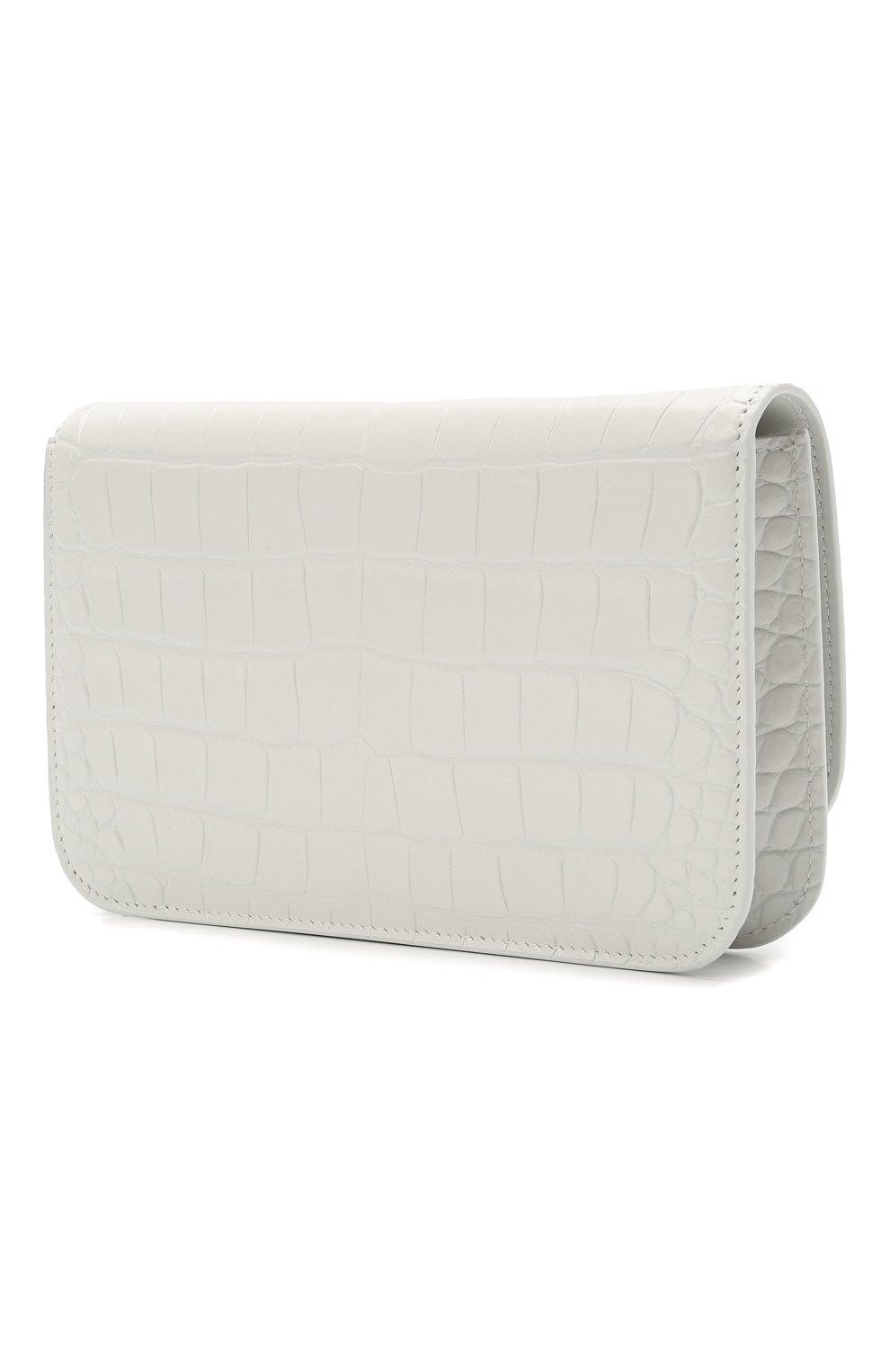 Женская сумка b. BALENCIAGA белого цвета, арт. 593615/1U6EK   Фото 3