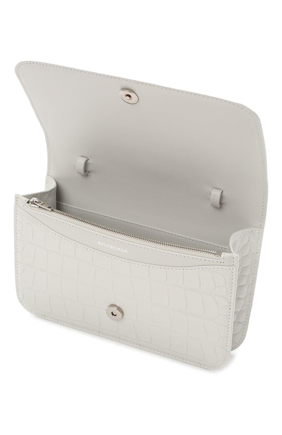 Женская сумка b. BALENCIAGA белого цвета, арт. 593615/1U6EK   Фото 4