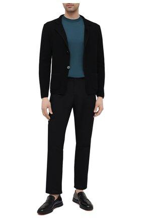 Мужской хлопковый пиджак DANIELE FIESOLI черного цвета, арт. DF 0062   Фото 2