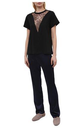 Женские шелковые брюки LISE CHARMEL синего цвета, арт. ALG0063 | Фото 2