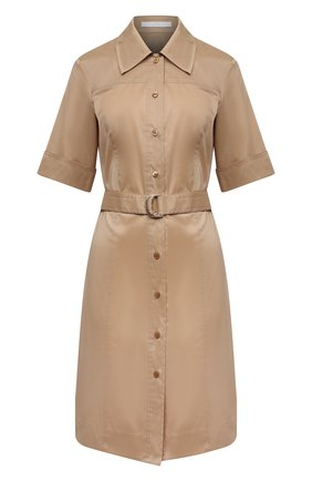 Женское платье BOSS бежевого цвета, арт. 50450002 | Фото 1