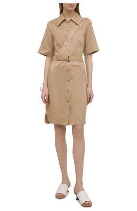 Женское платье BOSS бежевого цвета, арт. 50450002 | Фото 2