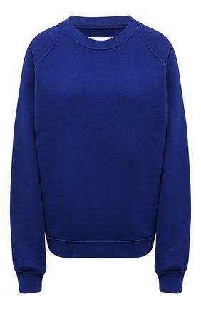 Женский хлопковый свитшот LES TIEN синего цвета, арт. CF-1010 | Фото 1