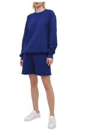 Женский хлопковый свитшот LES TIEN синего цвета, арт. CF-1010 | Фото 2