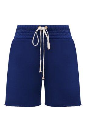 Женские хлопковые шорты LES TIEN синего цвета, арт. CF-3000 | Фото 1