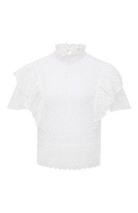 Женский хлопковый топ ISABEL MARANT ETOILE белого цвета, арт. HT2040-21P032E/TIZAINA | Фото 1