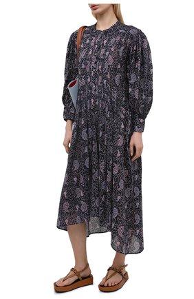 Женское хлопковое платье ISABEL MARANT ETOILE фиолетового цвета, арт. R01876-21P031E/ARIANA | Фото 2