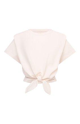 Женская хлопковая футболка ISABEL MARANT кремвого цвета, арт. TS0780-21P027I/ZELIT0 | Фото 1
