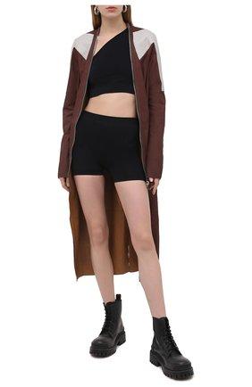 Женские шорты RICK OWENS черного цвета, арт. RP21S3651/KSP | Фото 2
