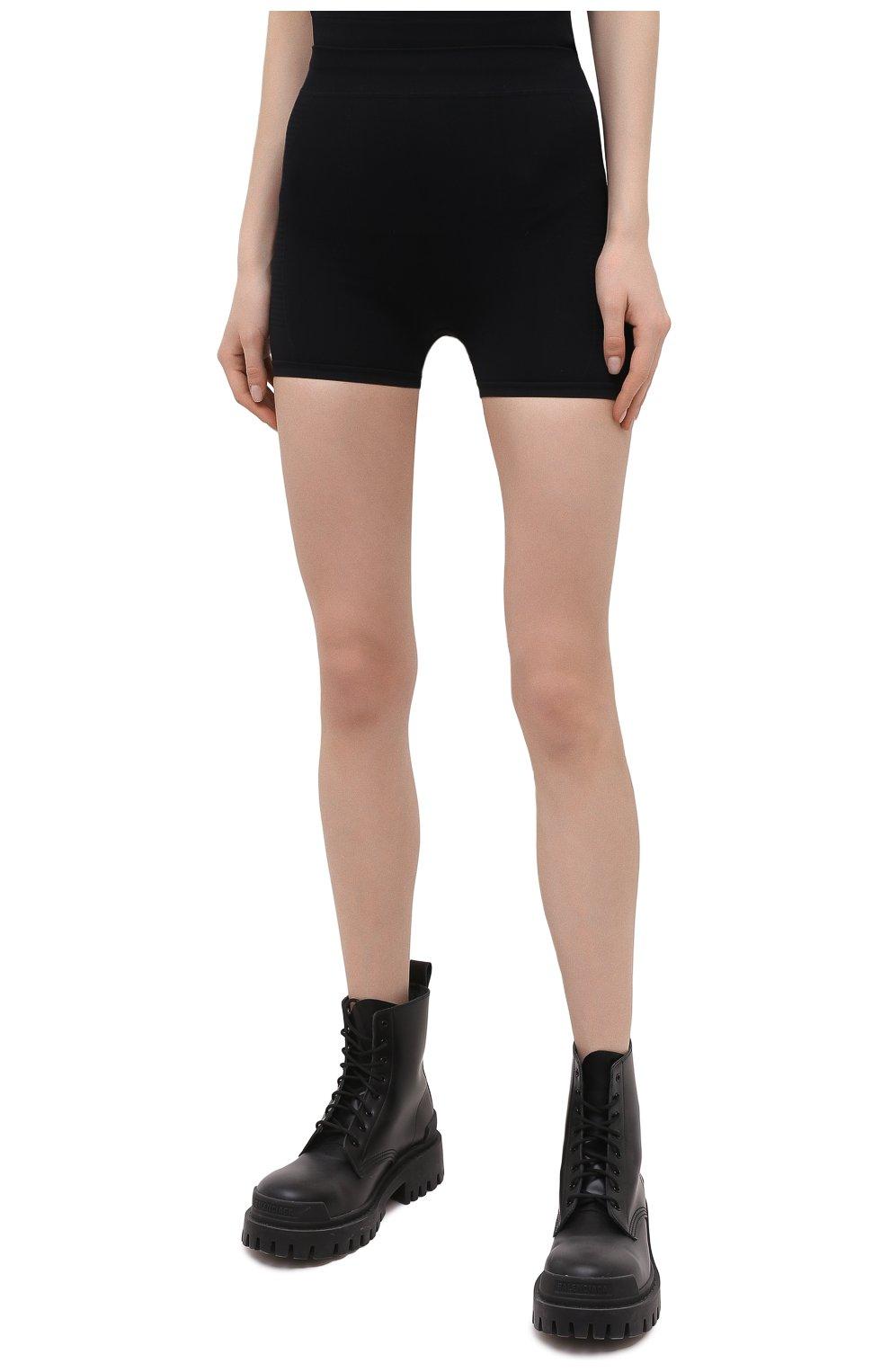 Женские шорты RICK OWENS черного цвета, арт. RP21S3651/KSP | Фото 3