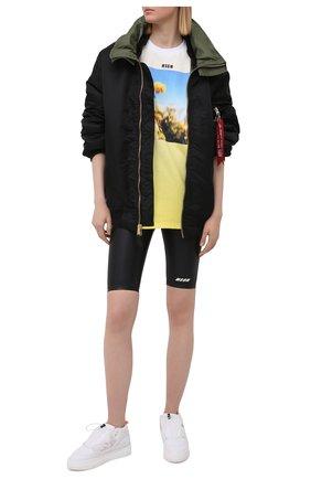 Женские шорты MSGM черного цвета, арт. 3045MDB03 217251 | Фото 2