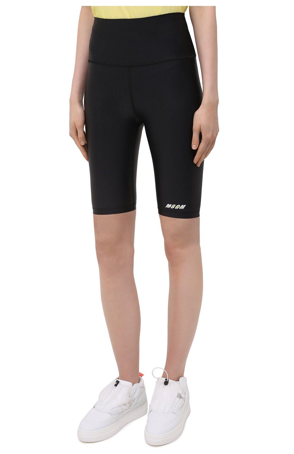 Женские шорты MSGM черного цвета, арт. 3045MDB03 217251 | Фото 3