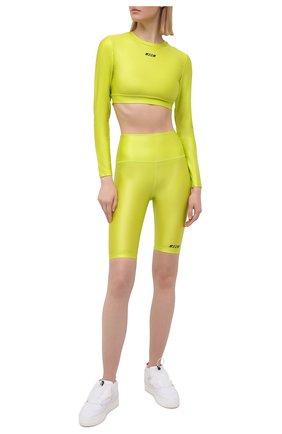 Женские шорты MSGM зеленого цвета, арт. 3045MDB03 217251   Фото 2