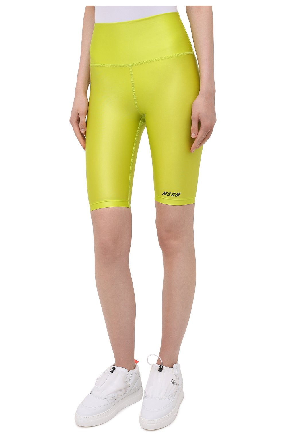 Женские шорты MSGM зеленого цвета, арт. 3045MDB03 217251   Фото 3
