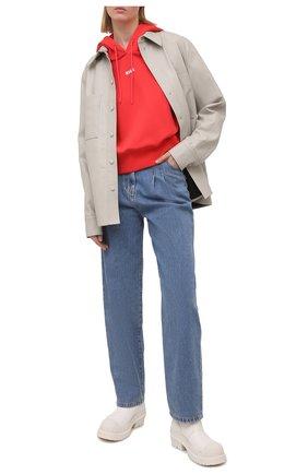 Женские джинсы MSGM синего цвета, арт. 3041MDP48L 217280 | Фото 2