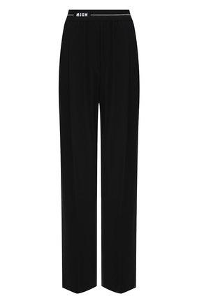 Женские брюки MSGM черного цвета, арт. 3041MDP12 217116 | Фото 1