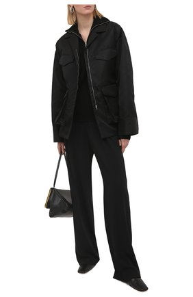 Женские брюки MSGM черного цвета, арт. 3041MDP12 217116 | Фото 2