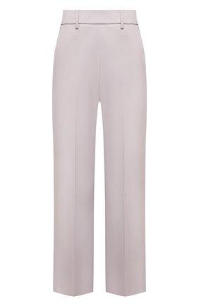 Женские хлопковые брюки MSGM серого цвета, арт. 3041MDP06 217105 | Фото 1