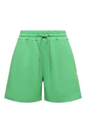 Женские хлопковые шорты MSGM зеленого цвета, арт. 3041MDB60 217299   Фото 1