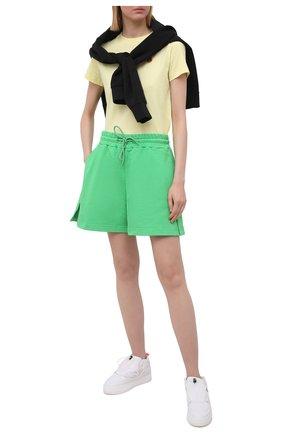 Женские хлопковые шорты MSGM зеленого цвета, арт. 3041MDB60 217299   Фото 2