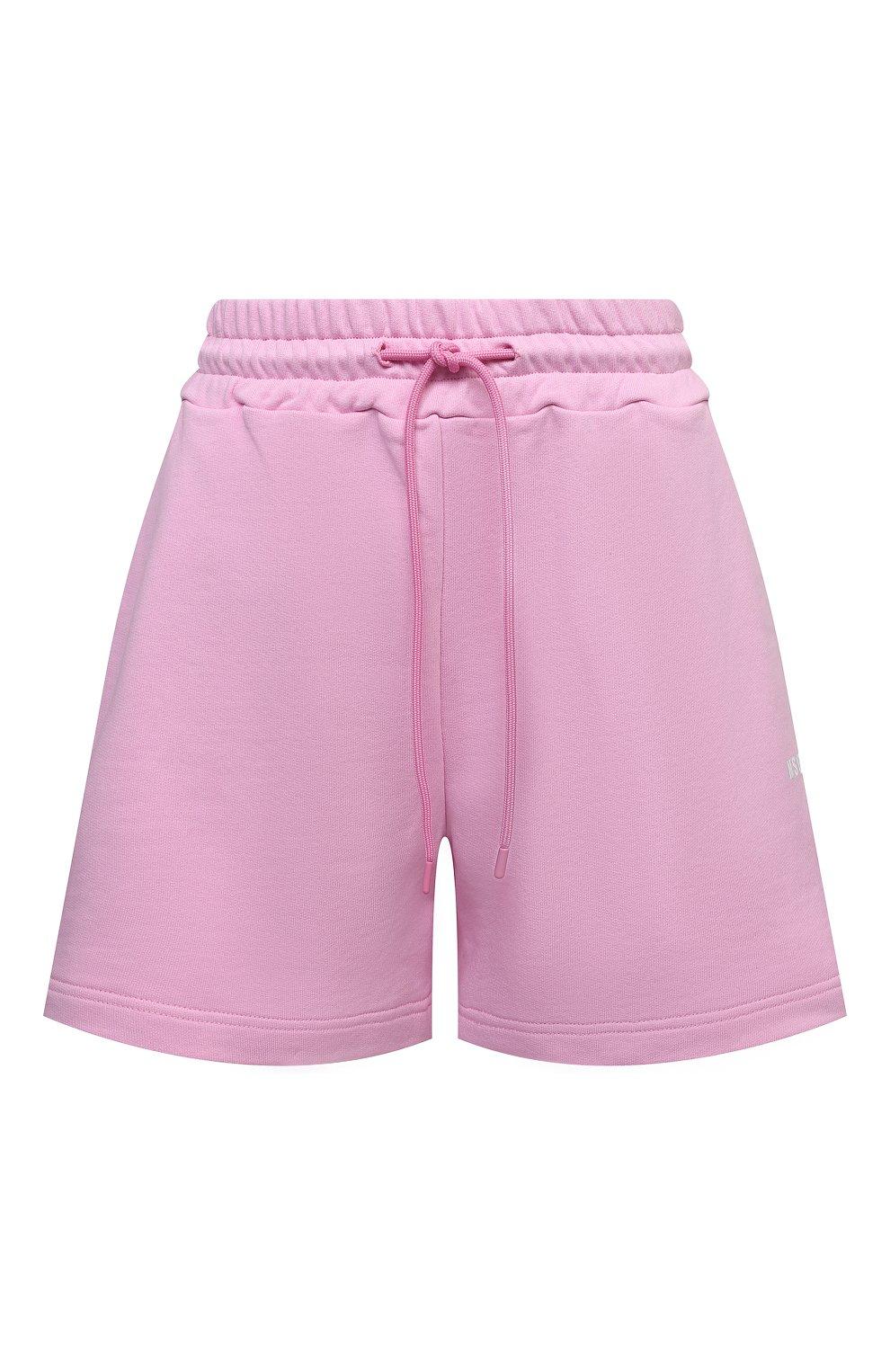 Женские хлопковые шорты MSGM светло-розового цвета, арт. 3041MDB60 217299 | Фото 1