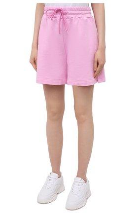 Женские хлопковые шорты MSGM светло-розового цвета, арт. 3041MDB60 217299 | Фото 3