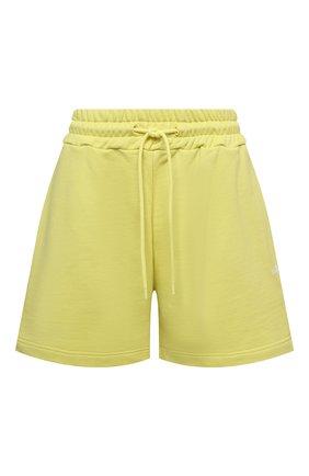 Женские хлопковые шорты MSGM желтого цвета, арт. 3041MDB60 217299 | Фото 1