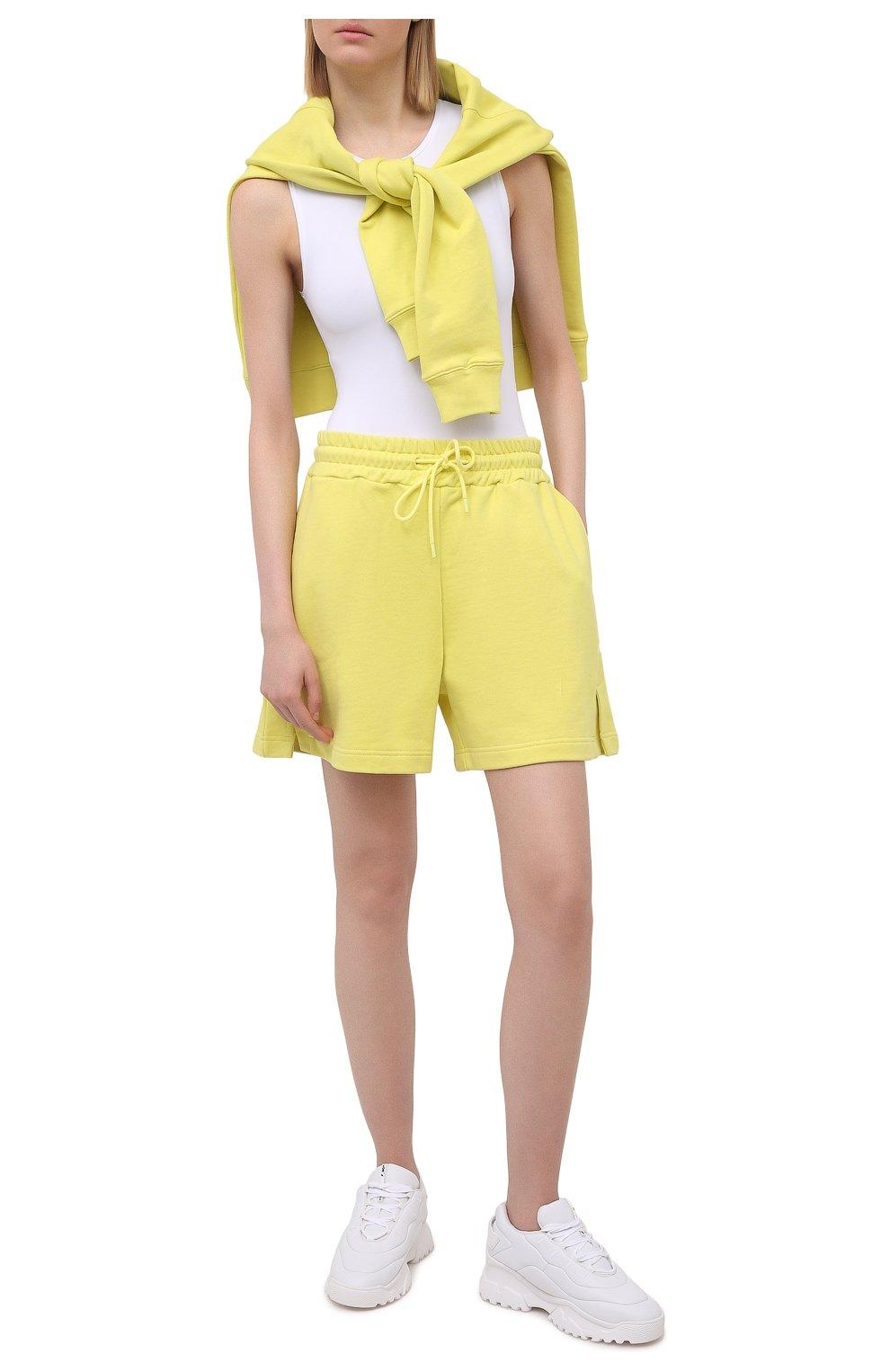 Женские хлопковые шорты MSGM желтого цвета, арт. 3041MDB60 217299 | Фото 2