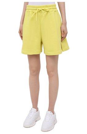 Женские хлопковые шорты MSGM желтого цвета, арт. 3041MDB60 217299 | Фото 3