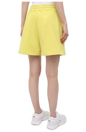Женские хлопковые шорты MSGM желтого цвета, арт. 3041MDB60 217299 | Фото 4