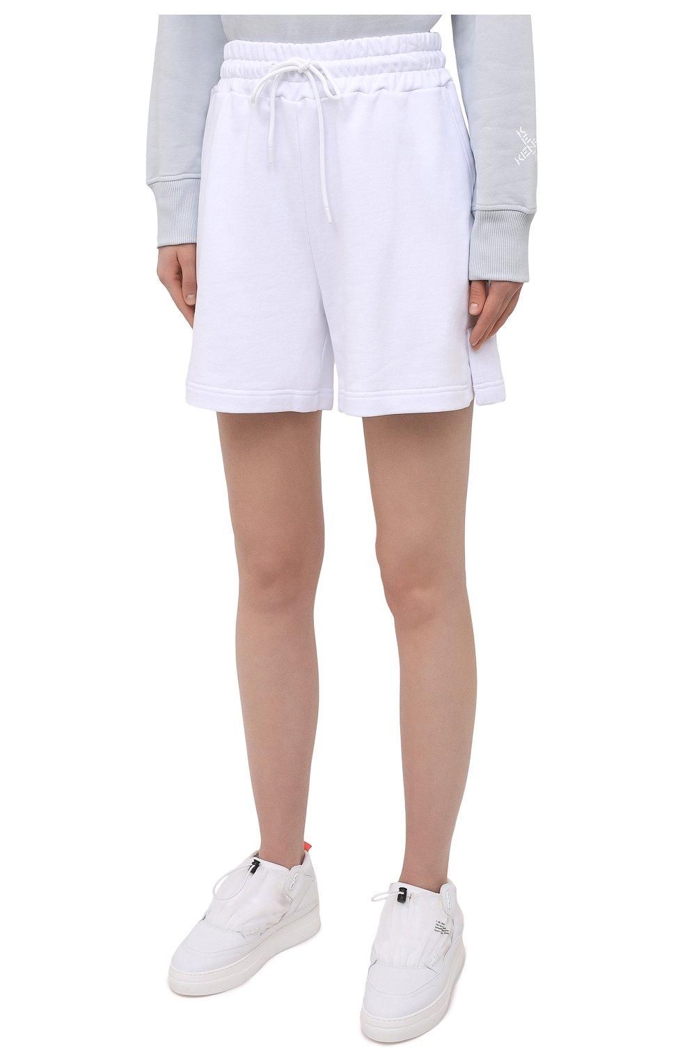 Женские хлопковые шорты MSGM белого цвета, арт. 3041MDB60 217299   Фото 3