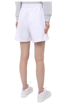 Женские хлопковые шорты MSGM белого цвета, арт. 3041MDB60 217299   Фото 4