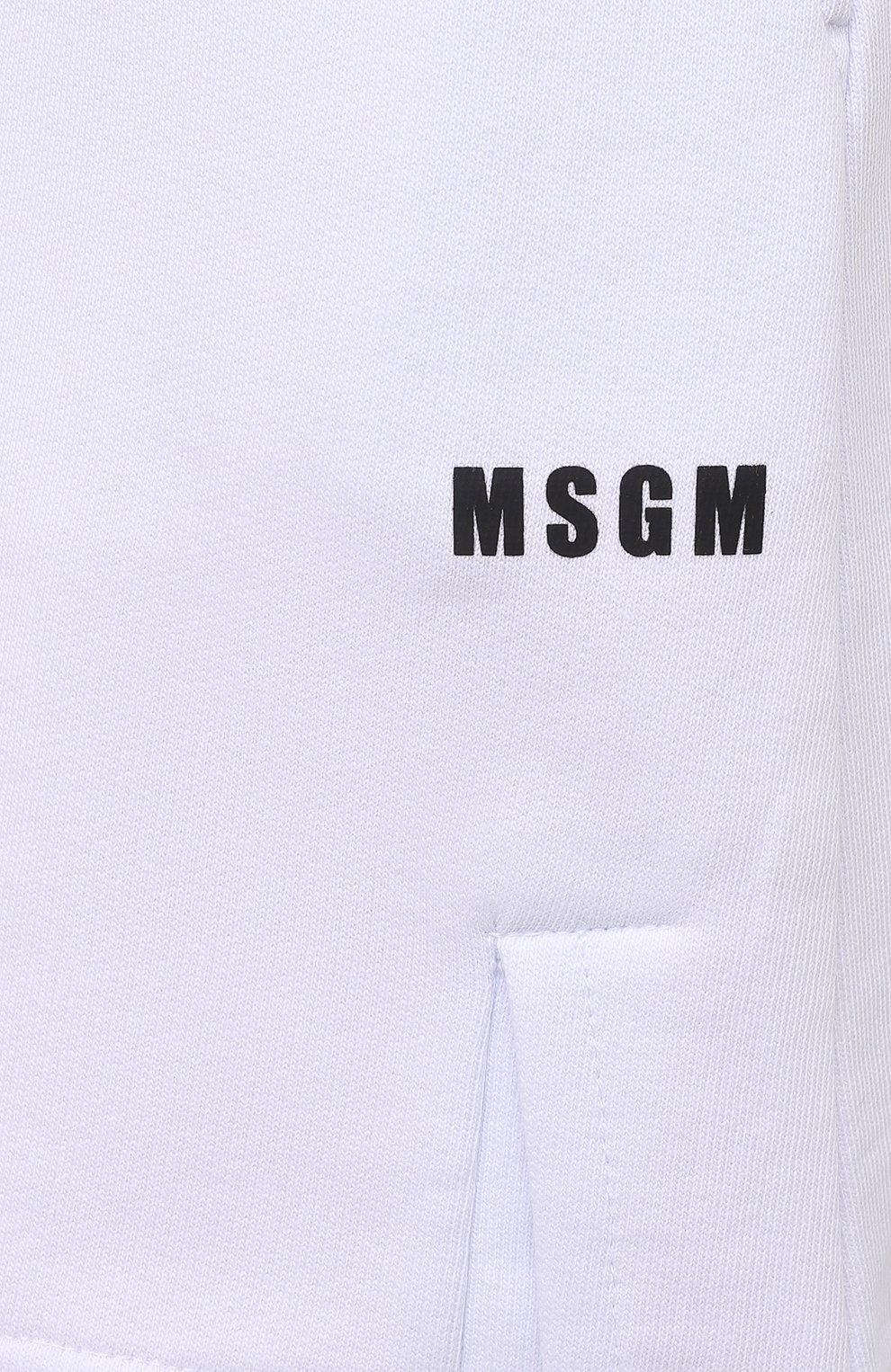 Женские хлопковые шорты MSGM белого цвета, арт. 3041MDB60 217299   Фото 5