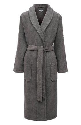 Женский хлопковый халат CALVIN KLEIN серого цвета, арт. EW1159E | Фото 1