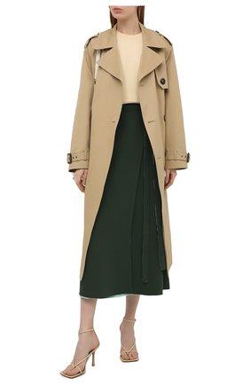 Женская шелковая юбка VALENTINO темно-зеленого цвета, арт. VB3RA7751MM | Фото 2