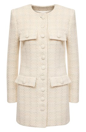 Пальто из шерсти и шелка | Фото №1