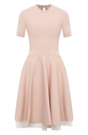 Женское платье из вискозы ALEXANDER MCQUEEN розового цвета, арт. 659536/Q1AUI | Фото 1