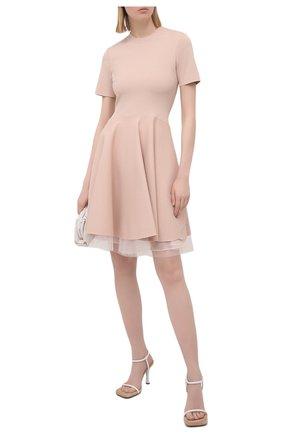 Женское платье из вискозы ALEXANDER MCQUEEN розового цвета, арт. 659536/Q1AUI | Фото 2