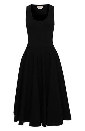 Женское платье из вискозы ALEXANDER MCQUEEN черного цвета, арт. 659535/Q1AUH | Фото 1