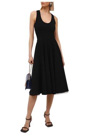 Женское платье из вискозы ALEXANDER MCQUEEN черного цвета, арт. 659535/Q1AUH | Фото 2