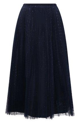 Женская плиссированная юбка REDVALENTINO синего цвета, арт. VR3RAC20/5MA   Фото 1